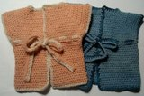 gehaakte babyvestjes voor pasgeboren baby