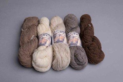 shetlandwol natuurlijke kleuren