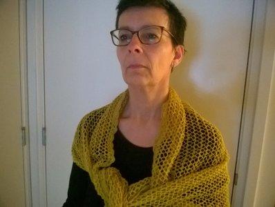sjaal in parelsteek
